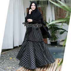 Khanza Syar'i Warna Black
