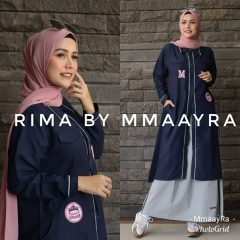 Rima Set Rok Warna Navy Blue