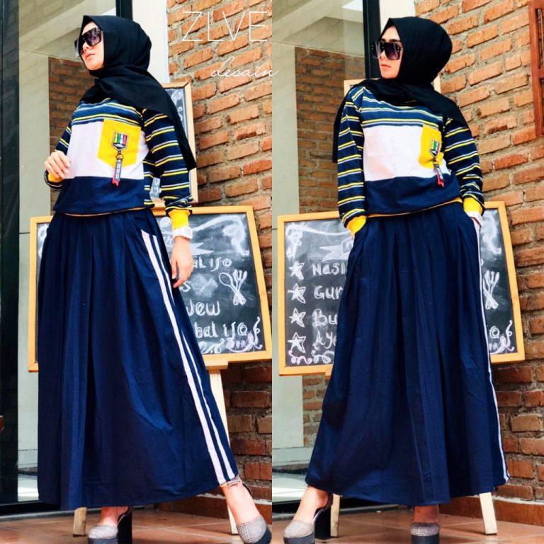 Setelan Kaos Warna Navy Blue