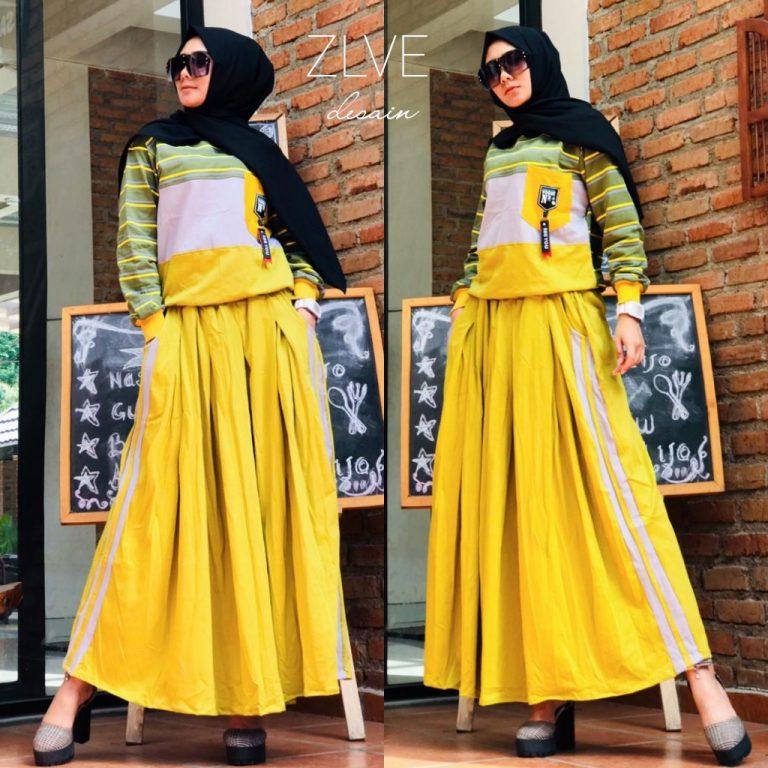 Setelan Kaos Warna Yellow