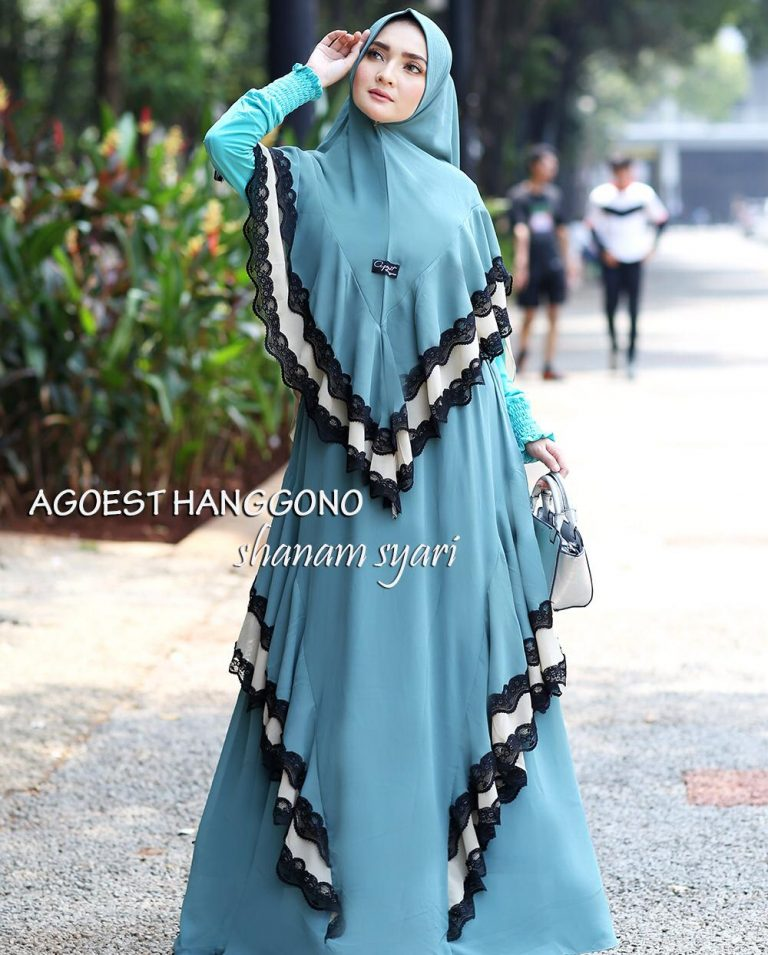 Shanam Syar'i Warna Dusty Blue