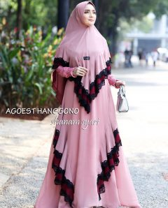 Shanam Syar'i Warna Dusty Pink