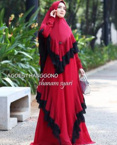 Shanam Syar'i Warna Red