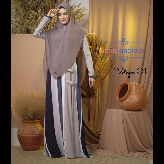 Velope 01 Dress Warna Grey