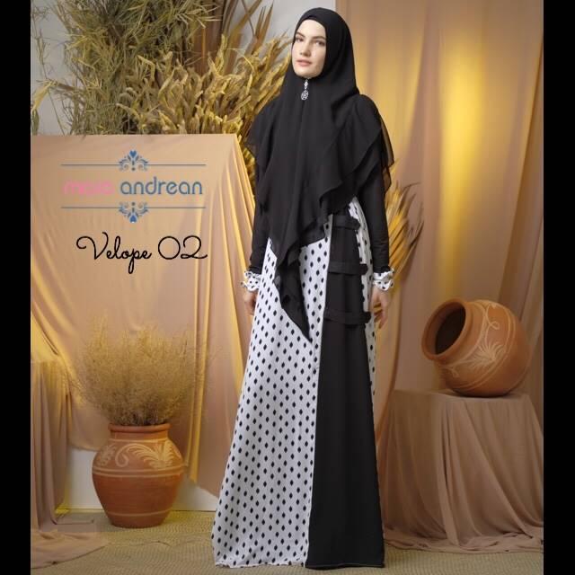 Velope 02 Dress Warna White Black