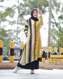 Viona Set Rok Warna Lime