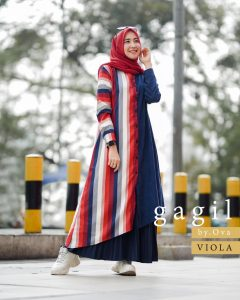 Viona Set Rok Warna Navy Blue