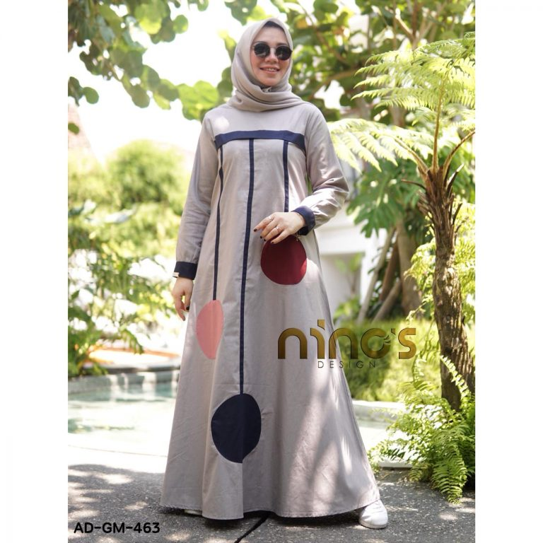 Dress 463 Warna Grey