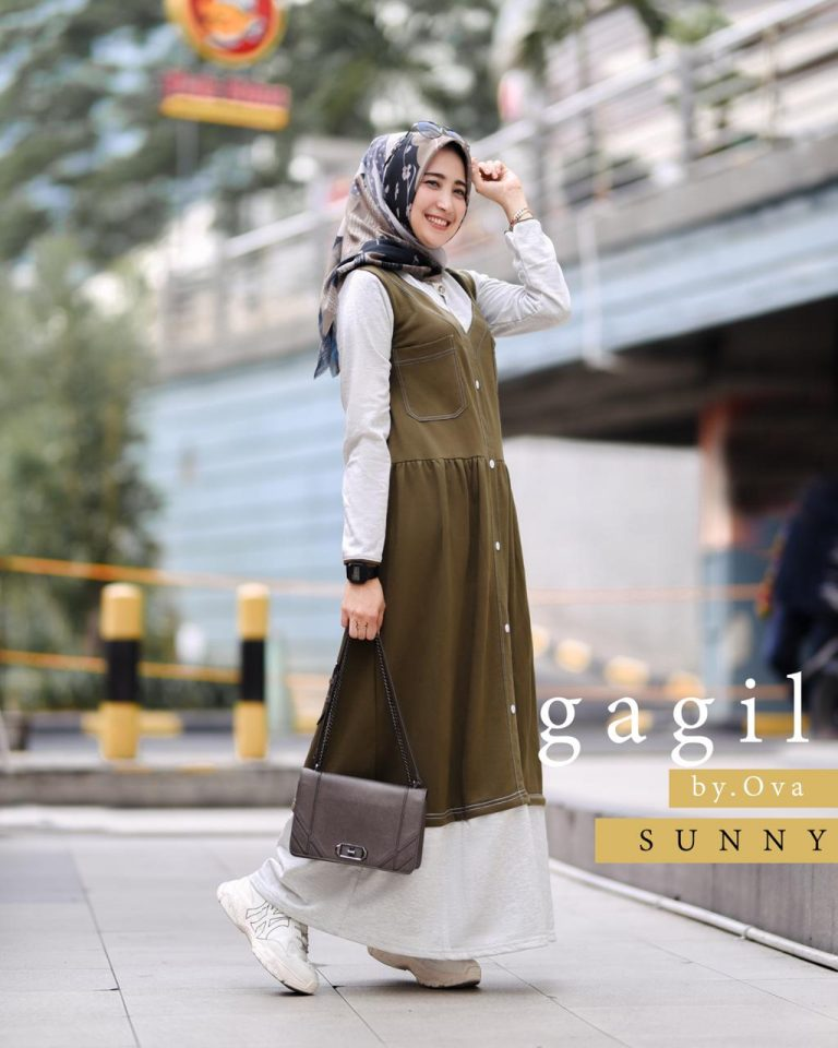 Sunny Dress Warna Army