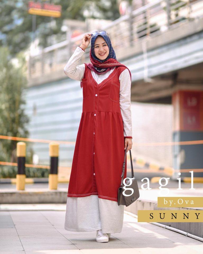 Sunny Dress Warna Red