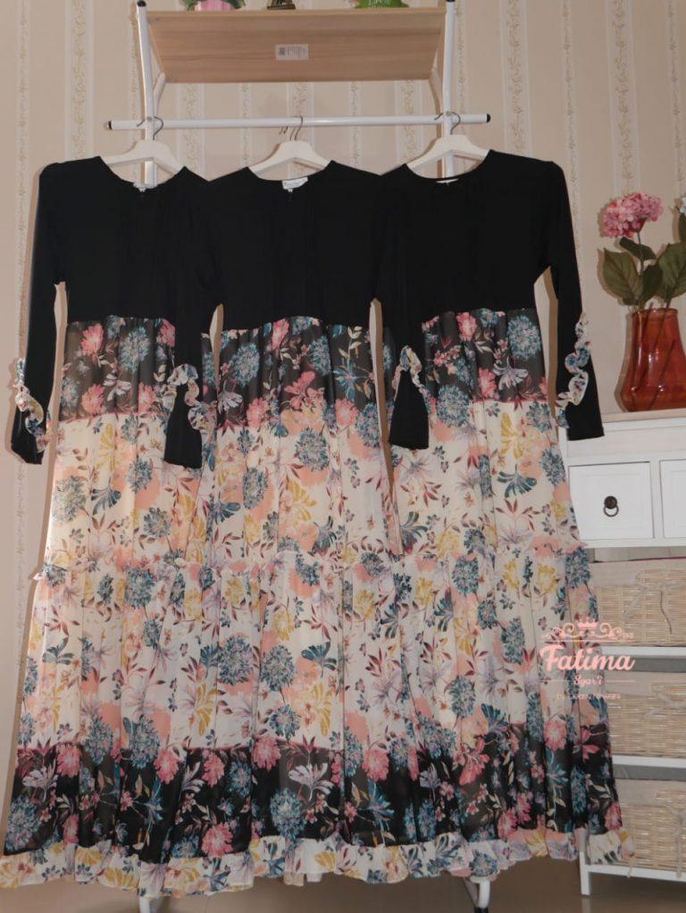 Syaluna Ivory Daily Dress Warna Black