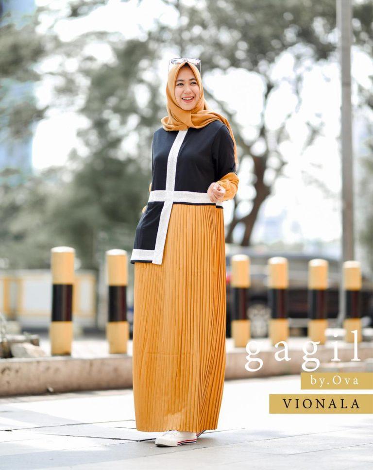 Vionala Dress Warna Yellow