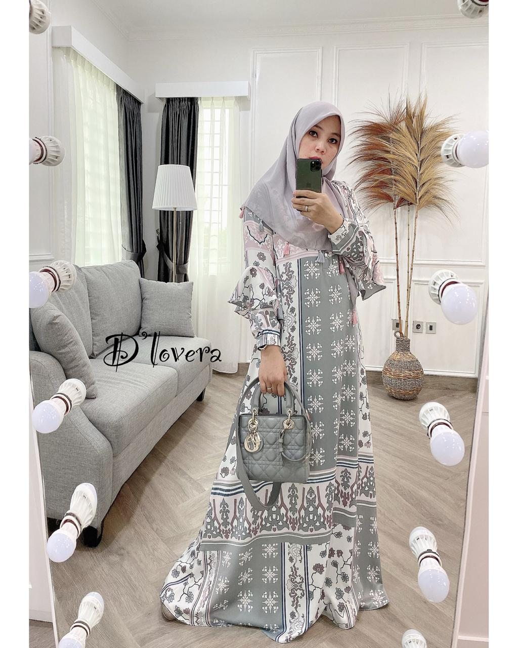 Andara Dress Warna Abu Muda