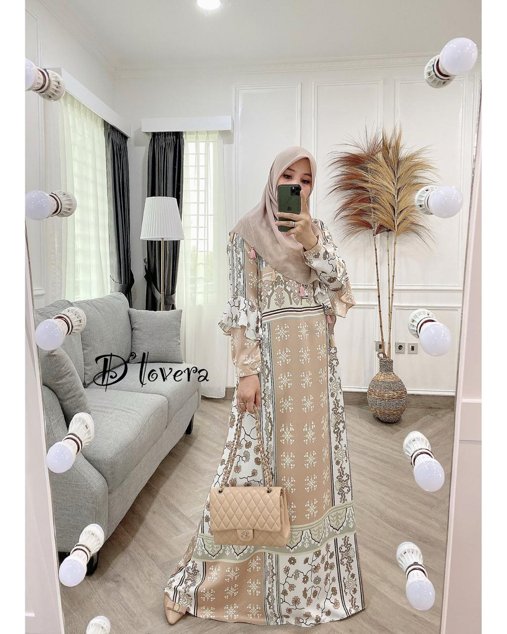 Andara Dress Warna Coklat Susu