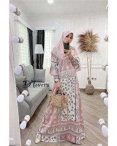 Andara Dress Warna Soft Pink
