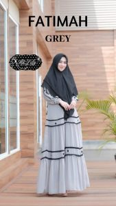Fatimah Dress Warna Grey