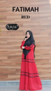 Fatimah Dress Warna Red