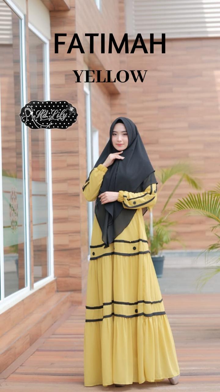 Fatimah Dress Warna Yellow