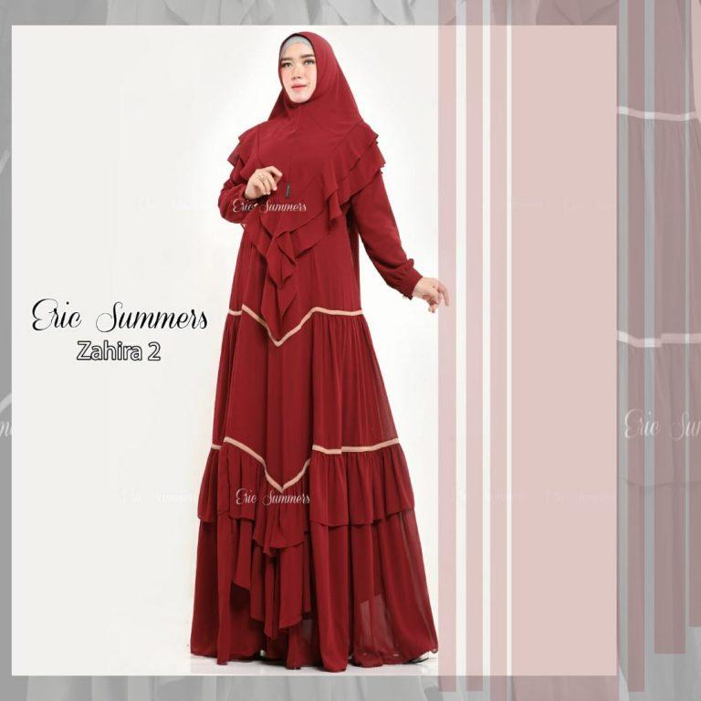 Zahira Syar'i 2 Warna Maroon