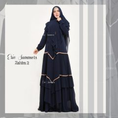 Zahira Syar'i 2 Warna Navy Blue