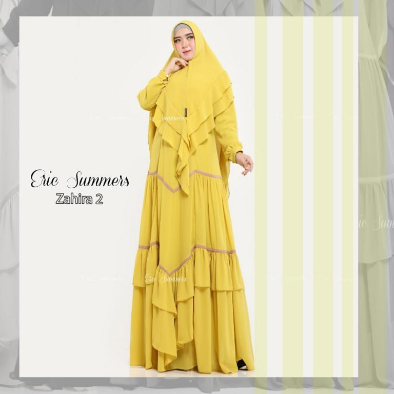 Zahira Syar'i 2 Warna Yellow
