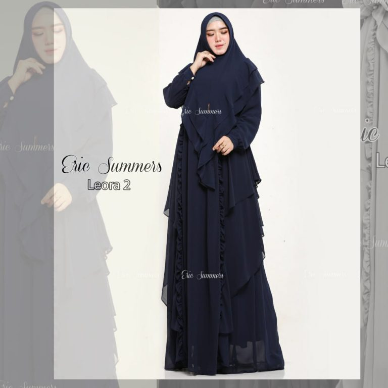 Leora Syari 2 Warna Navy Blue