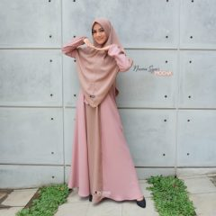 Naima Dress Warna Mocha