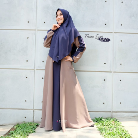 Naima Dress Warna Navy Blue
