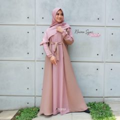 Naima Dress Warna Dusty Pink