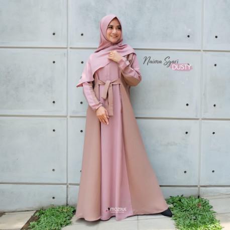 Naima Dress Warna Dusty Pink