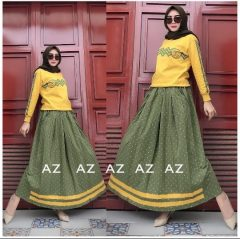 Setelan Az Warna Yellow Green