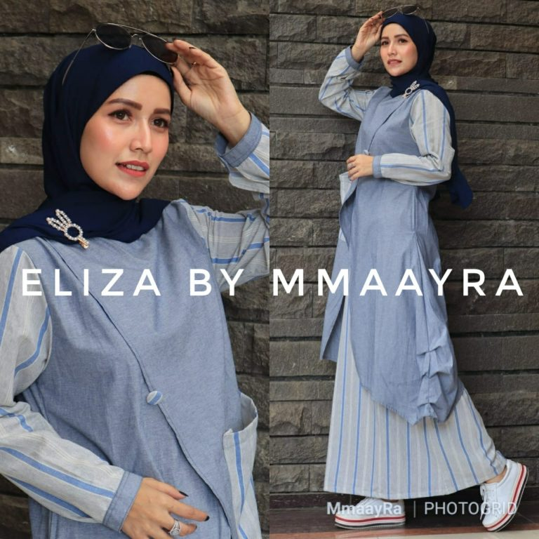 Eliza Set Warna Biru Muda