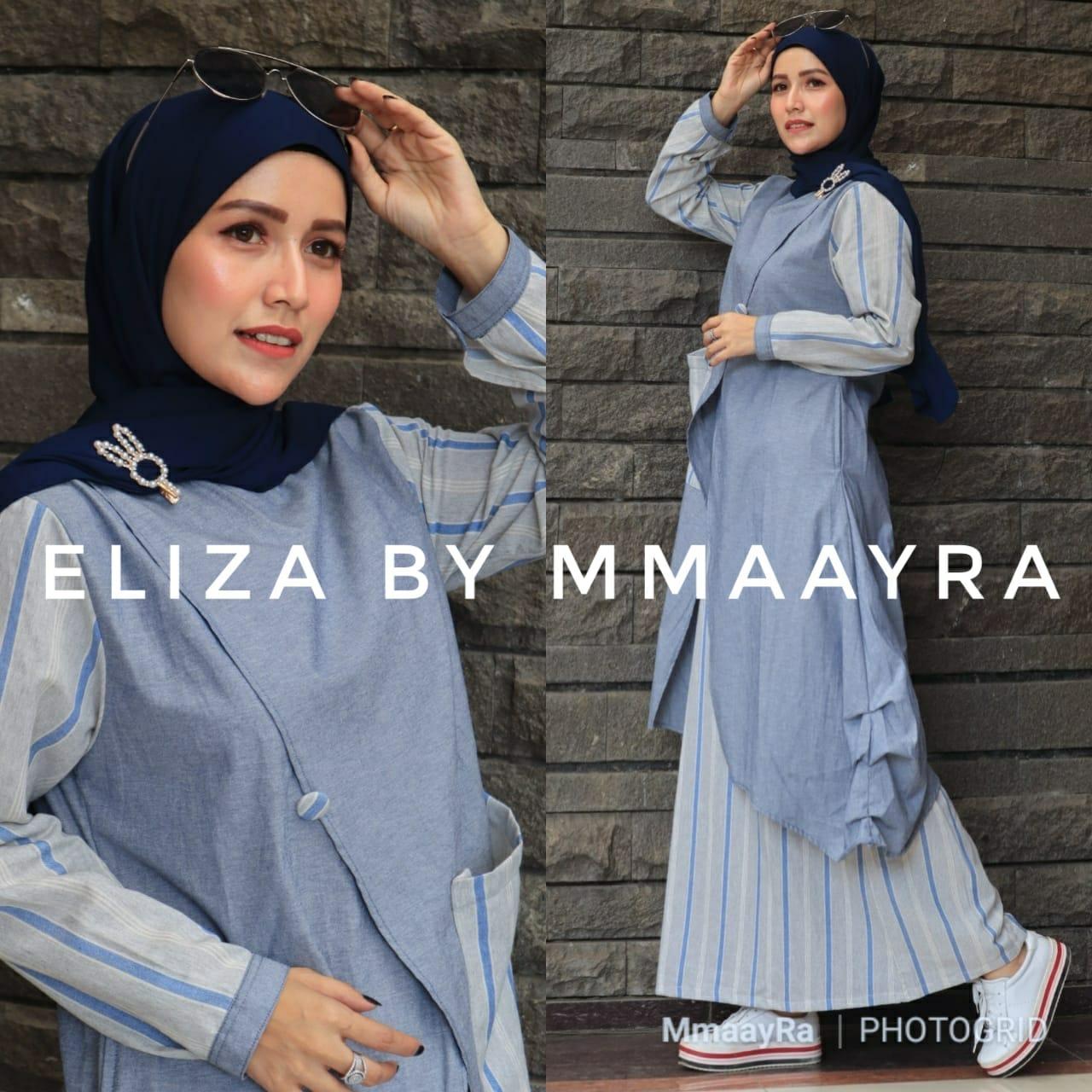Eliza Set Warna Biru Muda