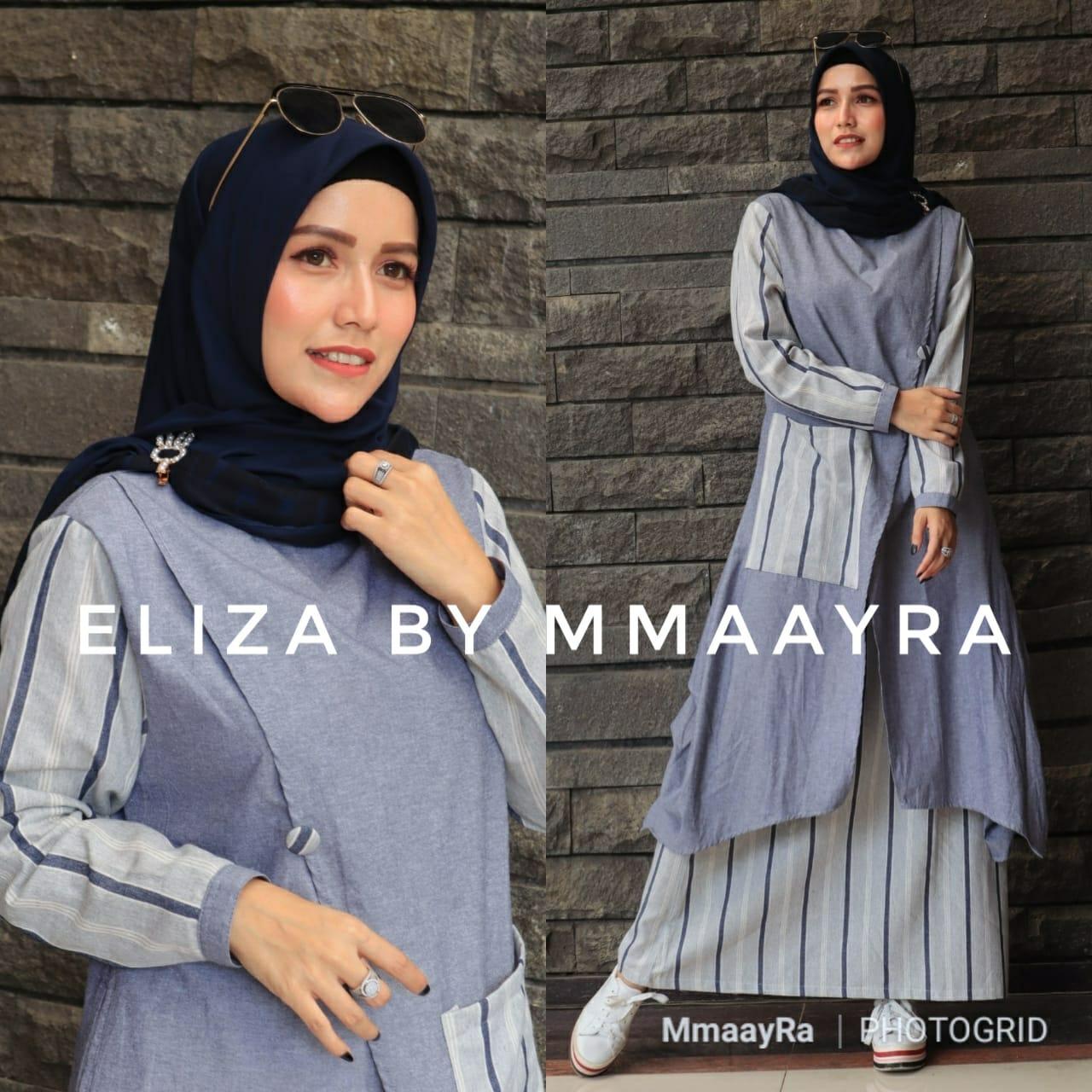 Eliza Set Warna Navy Blue