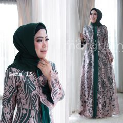 Gema 15 Dress Warna Hijau Botol