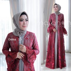 Gema 15 Dress Warna Maroon