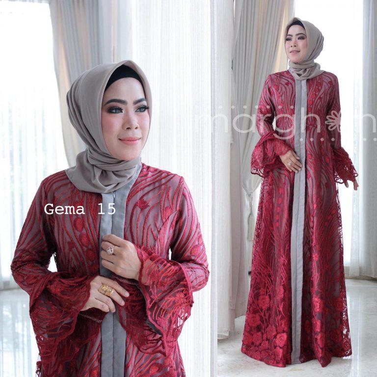 Gema 15 Dress Warna Maroon