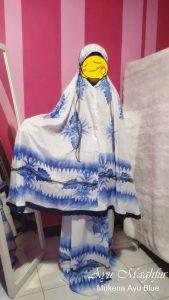 Mukena Bunga Ayu Warna Blue