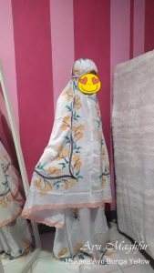 Mukena Bunga Ayu Warna Soft Yellow