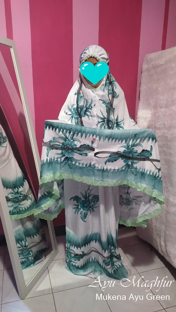 Mukena Bunga Ayu Warna Green