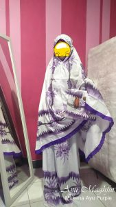 Mukena Bunga Ayu Warna Purple
