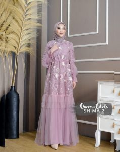 Shima Dress Vol 2 Warna Dusty Purple