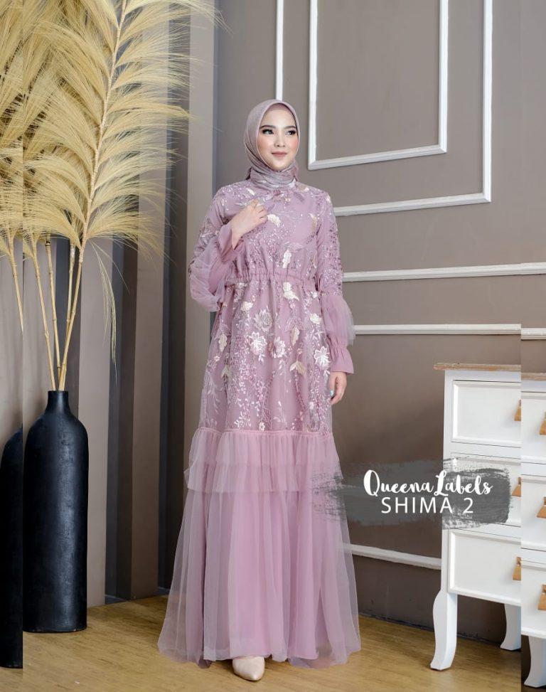 Shima Dress Vol 2 Warna Dusty Purple