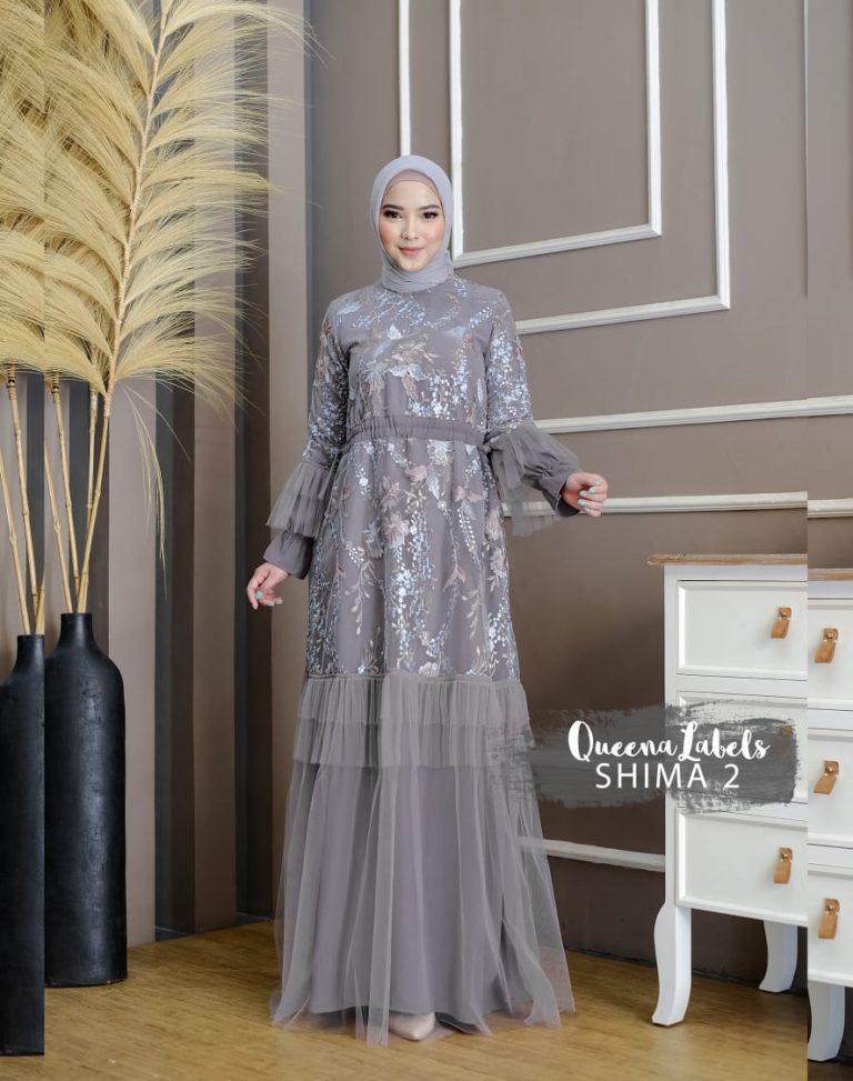Shima Dress Vol 2 Warna Grey