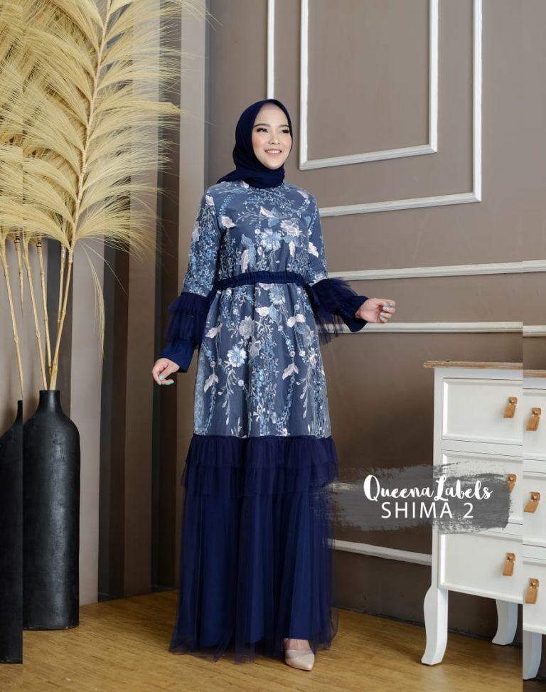 Shima Dress Vol 2 Warna Navy Blue