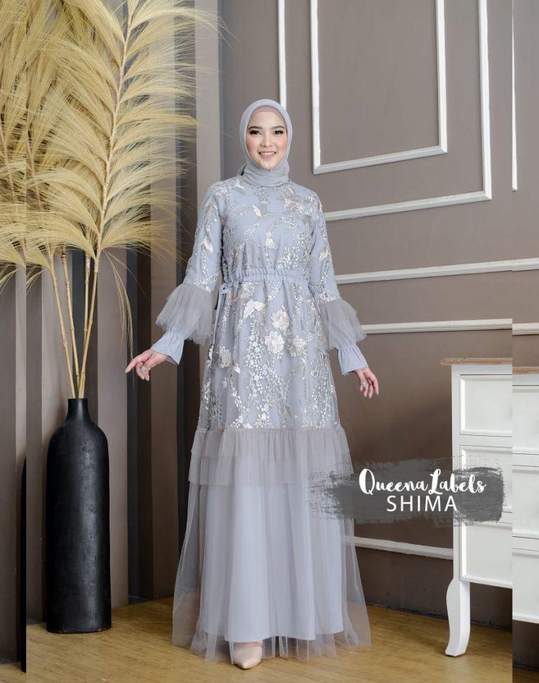 Shima Dress Warna Grey