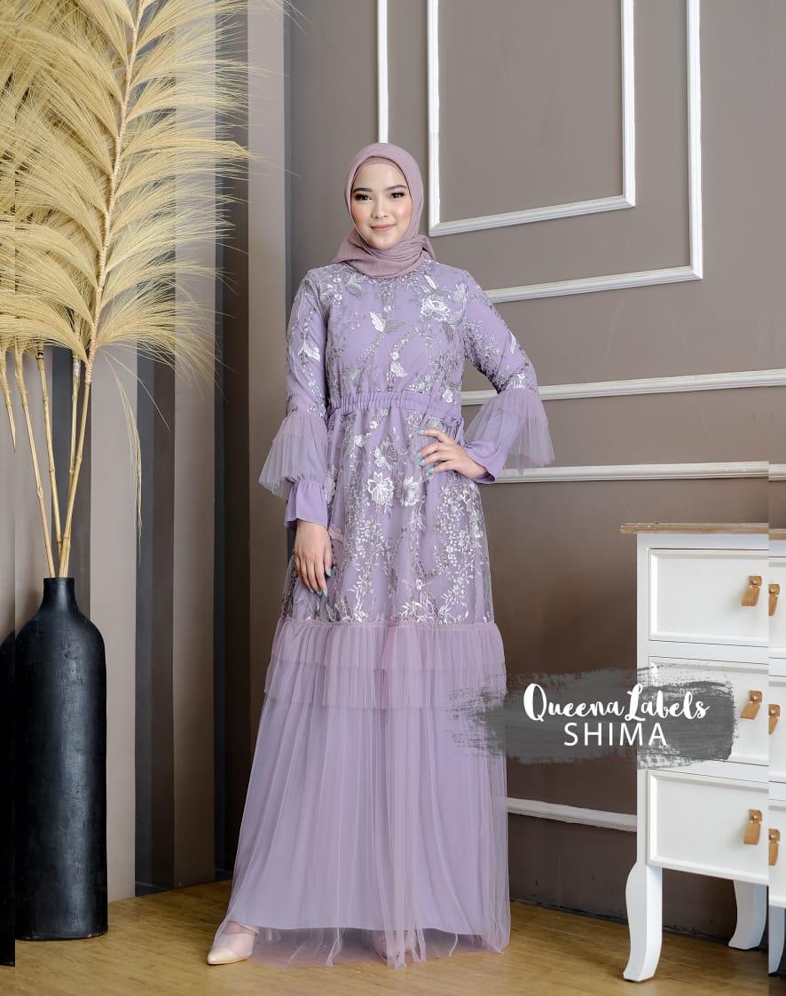 Shima Dress Warna Lavender