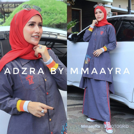 Adzra Set Vol 2 Warna Biru Tua