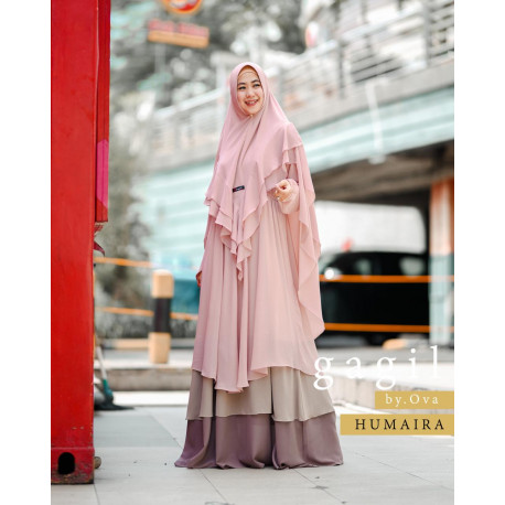 Humaira Syar'i Warna Dusty Pink