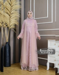 Alesha Dress Vol 2 Warna Baby Pink